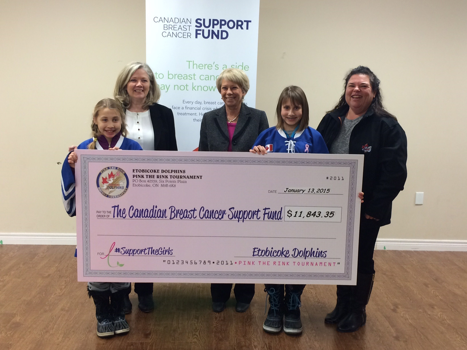 Breast Cancer Support – Cheque Presentation!