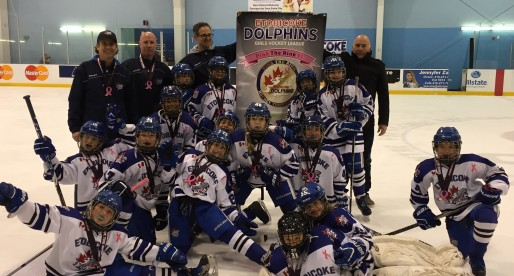 Etobicoke Atom BB's are golden at Pink the Rink 6!