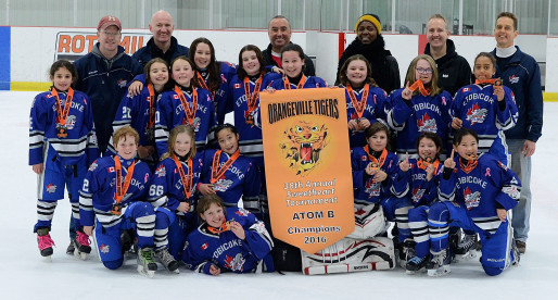 Atom B win Gold at Orangeville Tournament