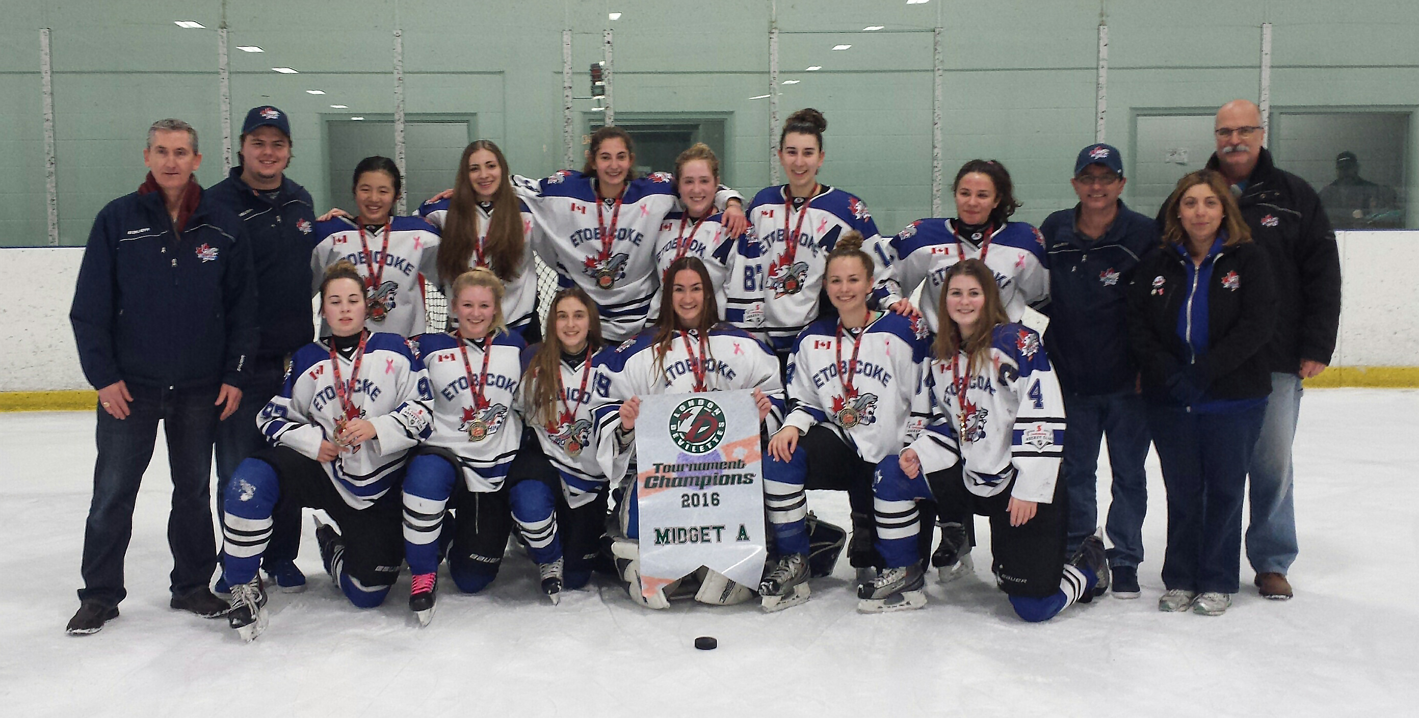 Midget A take GOLD at the London Devilettes tournament!