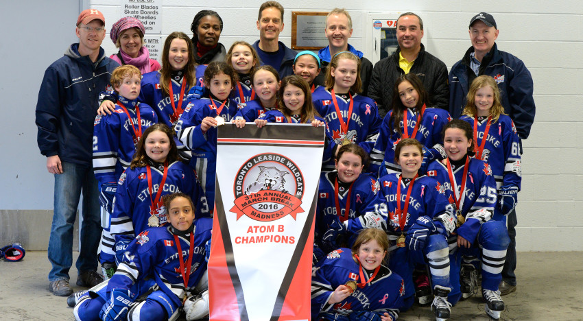 Atom B win Gold at Leaside Madness 2016