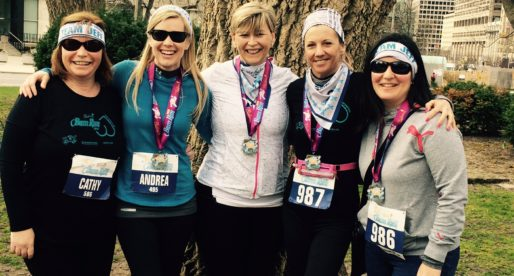 The Pink the Rink Ladies in the 5 km  Bum Run on April 24th