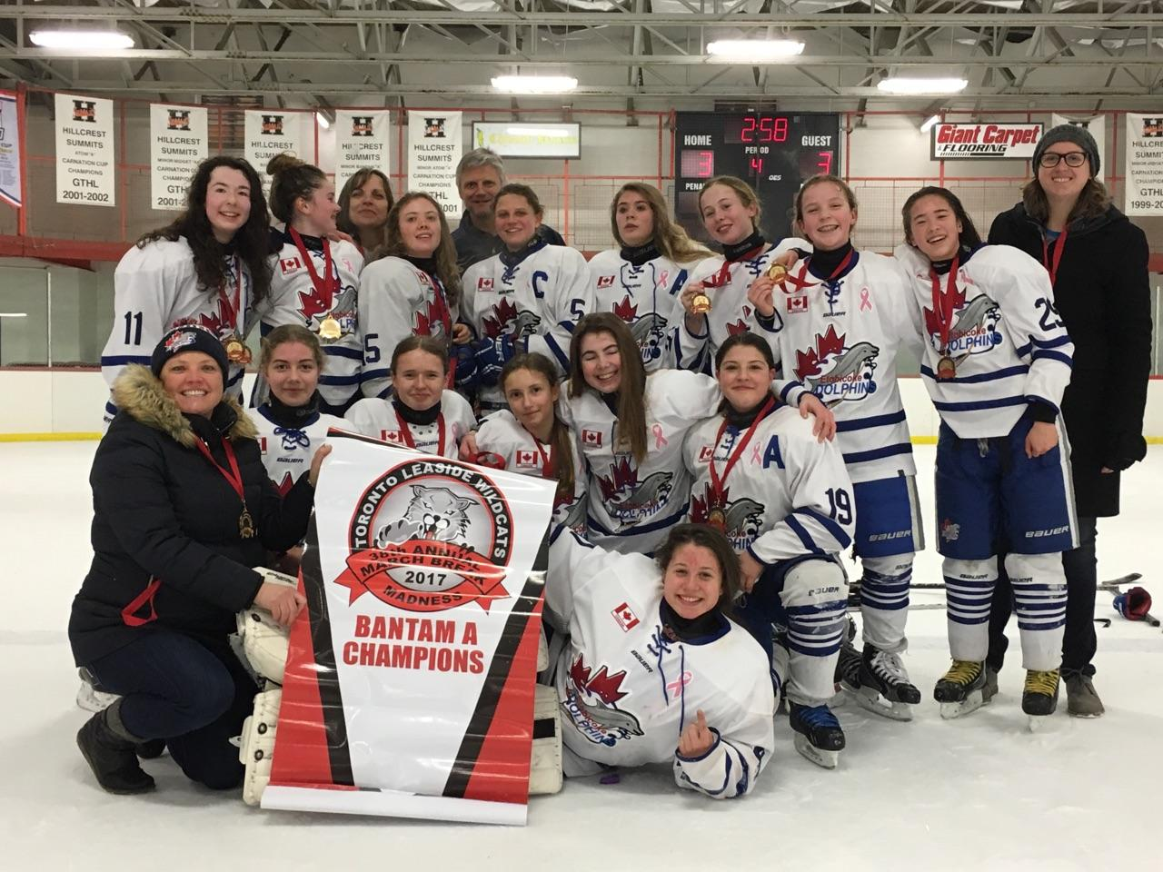 Bantam A Wins Gold at 2017 Leaside Wildcats March Madness Tournament
