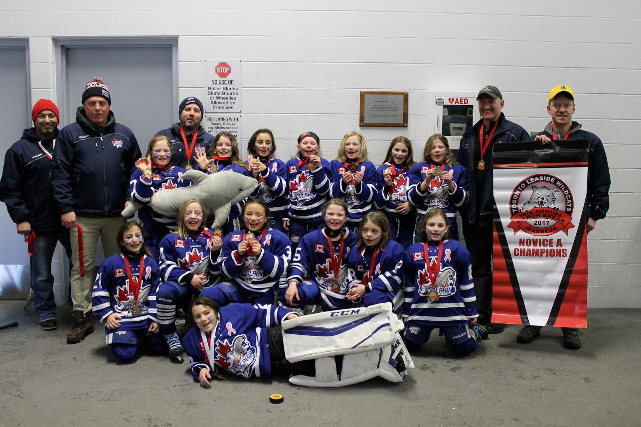 Novice A wins Gold at Leaside Wildcats March Madness 2017 Tournament