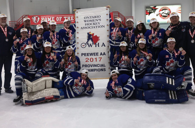 Peewee AA Phins 2017 Provincial Champions!
