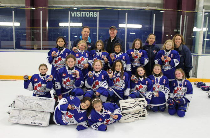 Atom A Win Silver at the Brock Jr. Badgers Rep Tournament