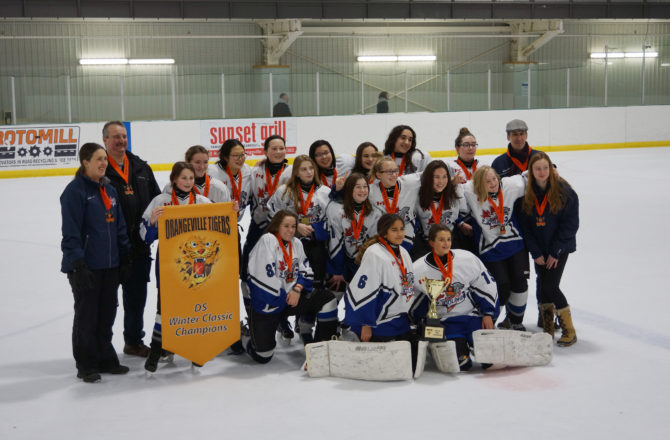 Bantam DS win Gold at the 2018 Orangeville Winter Classic