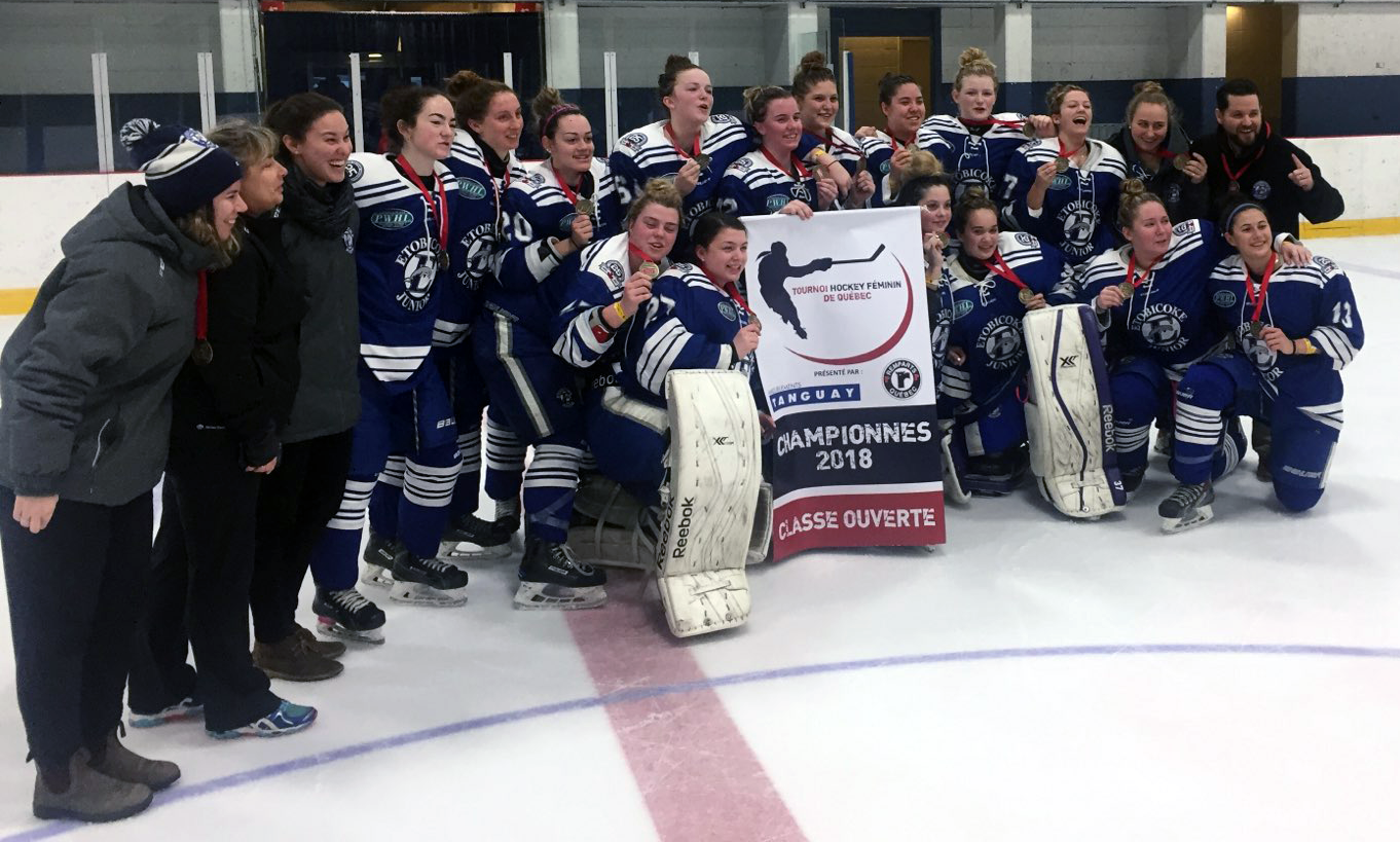 Etobicoke Jrs captured the well regarded Tournoi De Feminin de Quebec, in Quebec City
