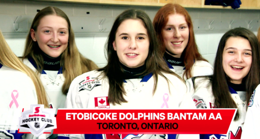 Dolphins Bantam AA team on Hockey Night in Canada