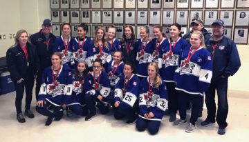 Bantam B will Silver at the 2018 Niagara Rapids Tournament