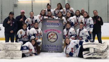 Bantam AA are Pink the Rink 2018 Champions