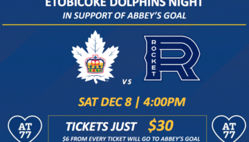 Etobicoke Dolphins Night at the Marlies Game In support of Abbey's Goal