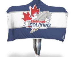 Etobicoke Dolphins Hooded Blankets