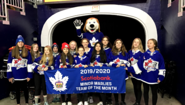 Peewee AA is the Marlies Team of the Month for January 2020