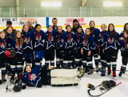 PeeWee DS Dolphins win silver at the 2020 Orangeville Winter Classic