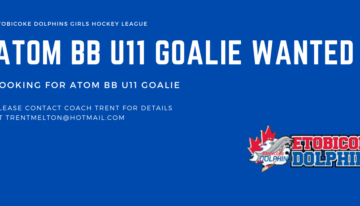 Atom BB U11 Goalie Wanted