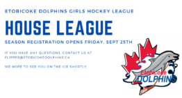 House League Registration Opens September 25th